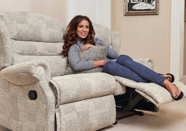 Fabric 3 Seater Power Recliner Sofas