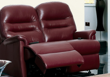 Leather 2 Seater Manual Recliner Sofas