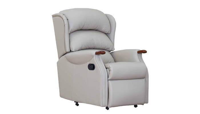 Westbury Leather Petite Manual Recliner