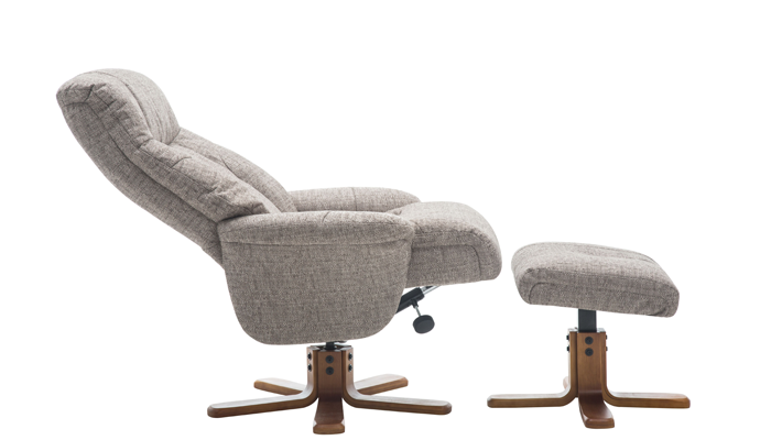Dubai Swivel Chair & Footstool - Mocha